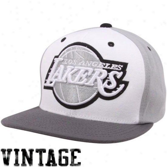 Mitchell & Ness Los Angeles Lakers Greytones Snapback Adjustable Hat