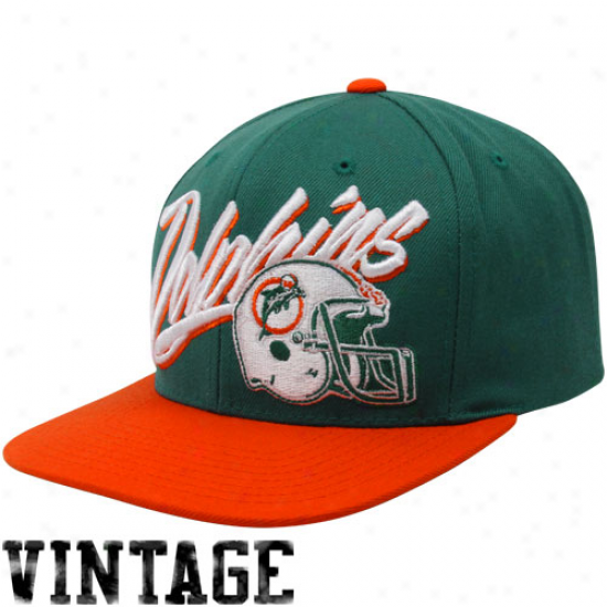 Mitchell & Ness Miami Dolphins Aqua-coral Vice Snapback Adjustable Hat