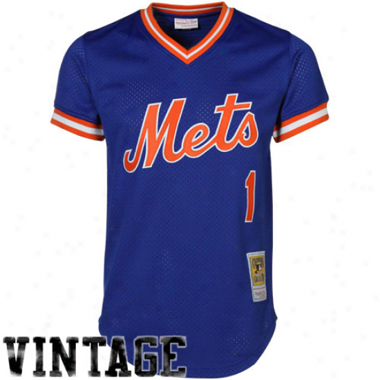 Mitchell & Ness Mookie Wilson New York Mets Authentic Throwback Jersey-royal Blue