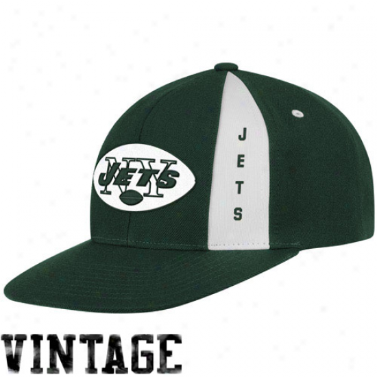 Mitchell & Ness New York Jets Green Panel Down Snapback Adjustable Hat
