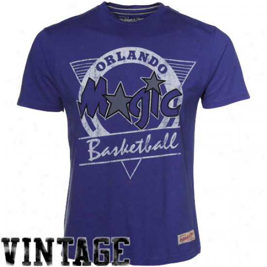 Mitchell & Ness Orlando Magic Royal Blue Rebound Premium T-shirt