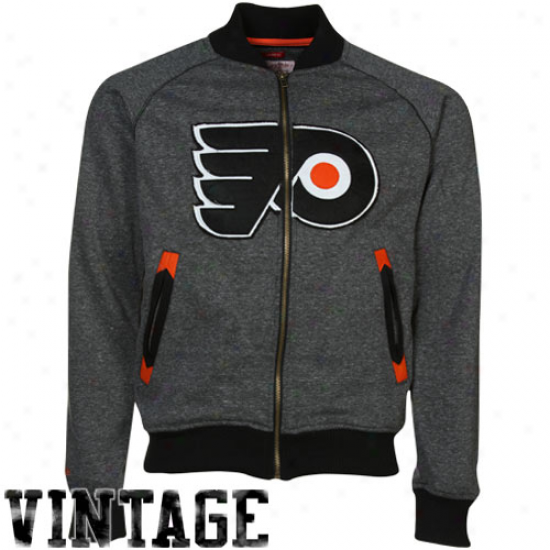 Mitchell & Ness Philadelphia Flyers Black Intrasquuad Cooperstown Full Zip Jerkin