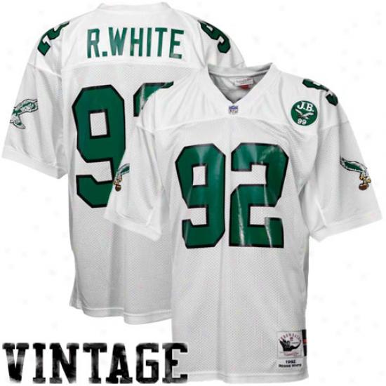 Mitchell & Ness Reggie White Philadelphia Eagles 1992 Authentic Throwback Jersey - White