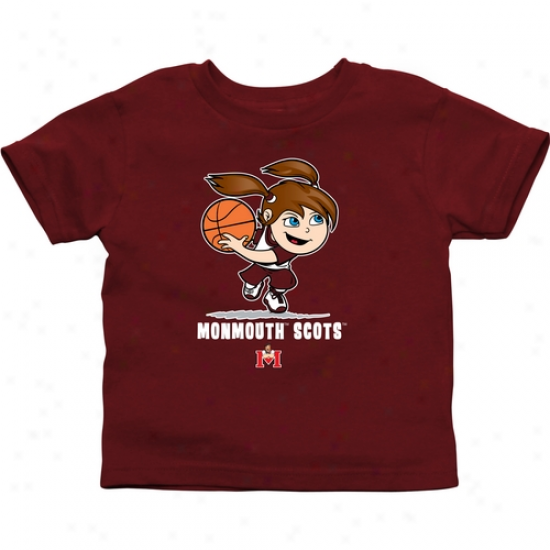 Monmouth College Fighting Scots Infant Girls Basketball T-shir t- Red