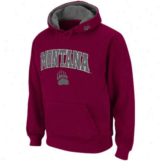 Montana Grizzlies Maroon Classic Twill Ii Pullover Hoodie Sweatshirt