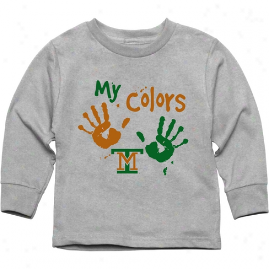 Montana Tech Orediggers Toddler My Colors Long Sleeve T-shirt - Ash