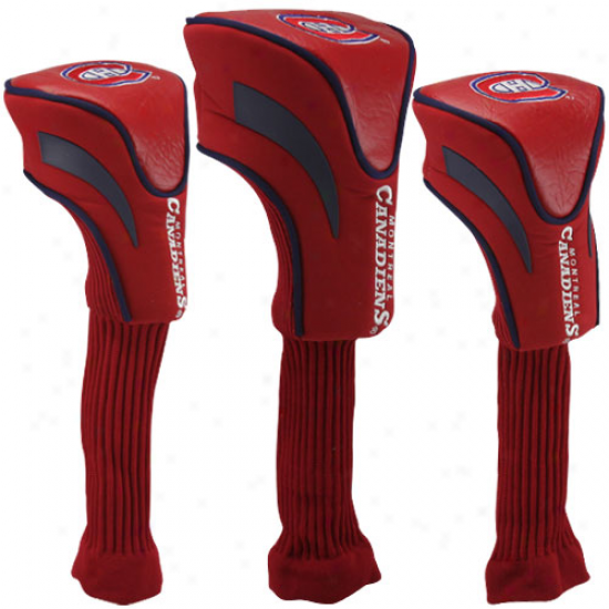 Montreal Canadiens 3-pack Golf Club Headcovers - Red