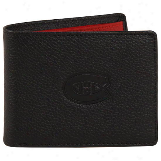 Montreal Canadiens Billfold Leather Wallet - Black