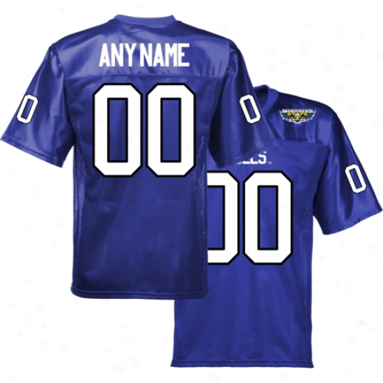 Morehead Commonwealth Eagoes Personalized Football Jersey - Royal Blue