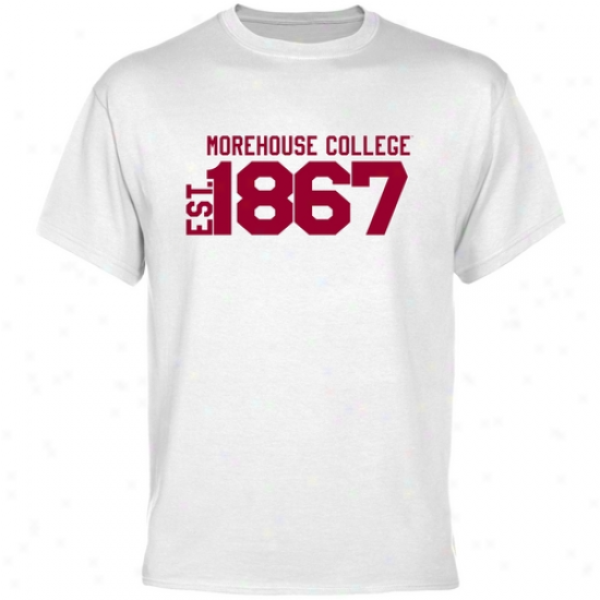 Morehouse Maroon Tigers Pale Est. Date T-shirt