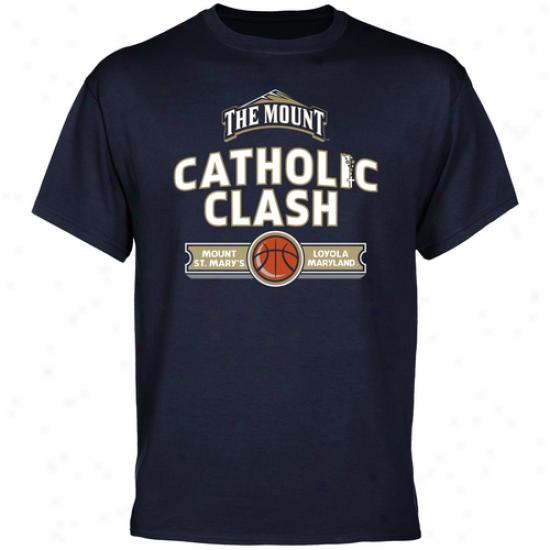 Mount St. Mary's Mountaineers 2011 Catholic Clash T-shirt - Navy Blue