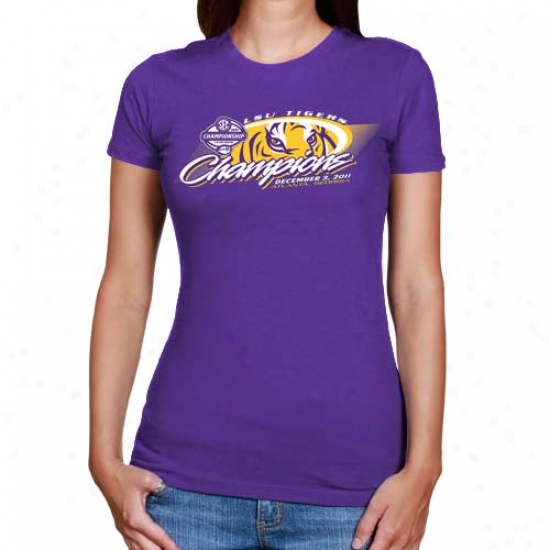 My U Lsu Tigers Laies 2011 Sec Football Champions T-shirt - Purple