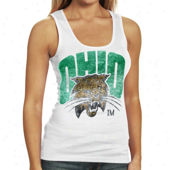 My U Ohio Bobcats Ladies White Shine On Tank Top