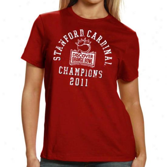 My U Stanford Principal Ladies Cardinal 2011 Orange Bowl Champions T-shirt