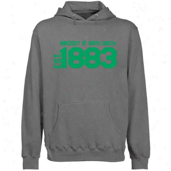 N. Dakota Fighting Sioux Gunmetal Est. Date Lightweight Pullover Hoody