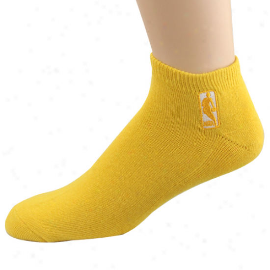 Nba Logoman No Show Sock - Yellow