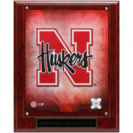 Nebraska Cornhuskers 10.5'' X 13'' Team Logo Plaque