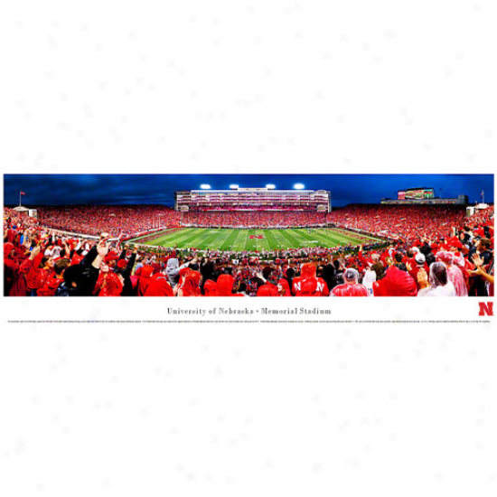 Nebraska Cornhuskers 13.5'' X 40' Memorial Stadium Termination Zone Panoramic Print