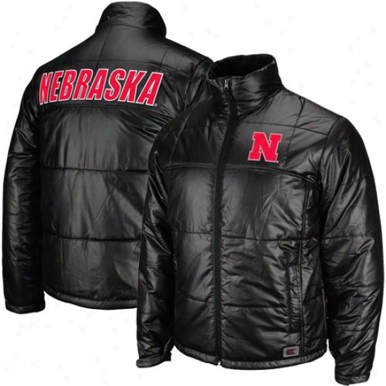 Nebraska Cornhjskers Black Denali Full Zip Bubble Jacket