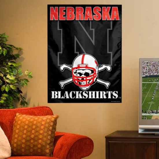 Nebraska Cornhuskers Blackshirts 27'' X 37'' Vertical Banner Flag