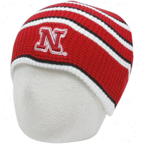 Nebraska Cornhuskers Infant Scaelet-white Replay Thermal Beanie