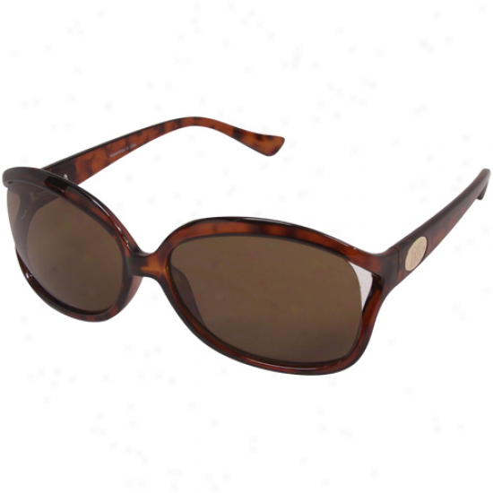 Nebraska Cornhuskers Ladies Tortoise Shell-amber Courtney Sunglasses