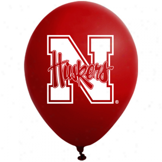 Nebraska Cornhuskers Scarlet 10-pack 11'' Round Latex Party Balloons