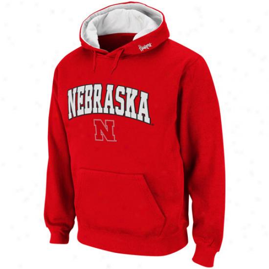 Nebraska Cornhuskers Scarlet Classic Twill Ii Pullover Hoodie Sweatshirt