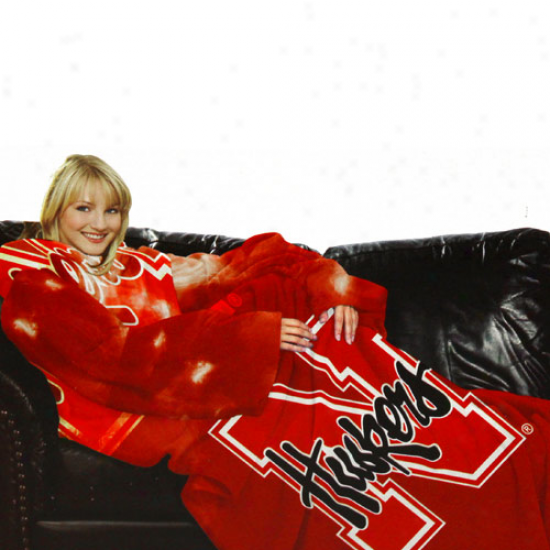 Nebraska Cornhuskers Unisex Scarlet Comfy Throw