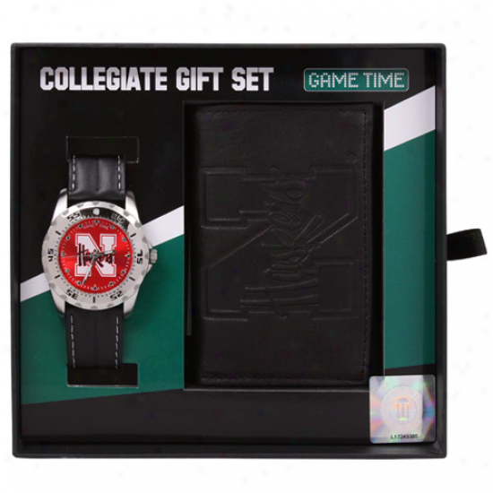 Nebraska Cornhuskers Watch & Bag Gift Set