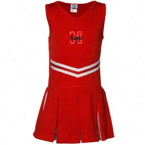 Nebraska Cornhuskers Yputh Girls Scarlet Cheerleader Dress-