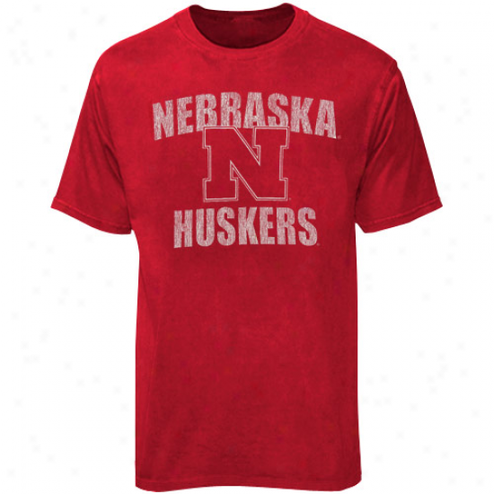 Nebraska Cornhuskers Youth Scarlet Vintage Bruiser T-sirt