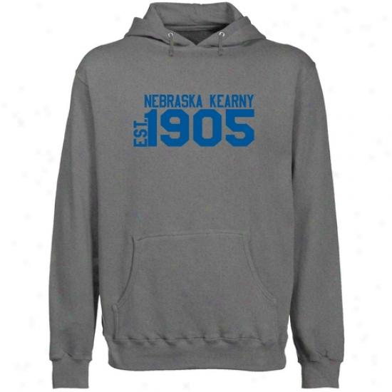 Nebraska-kearneey Lopers Gunmetal Est. Date Lightweight Pullover Hoody