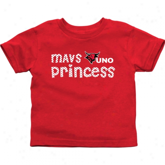 Nebraska Omaha Mavericks Infant Princess T-shirt - Crimson