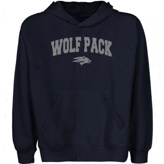 eNvada Wolf Pacl Youth Nav6 Blue Logo Arch Pullover Hoody