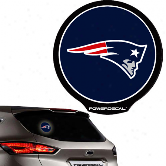 New England Patriots Backlit Led Mo5ion Sensing Powerdecal