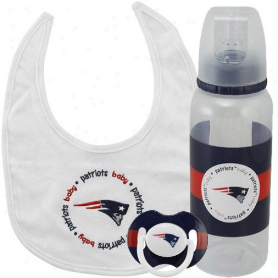 Just discovered England Patriots Infant 3-piece Bottle, Bib & Pacifier Gift Set