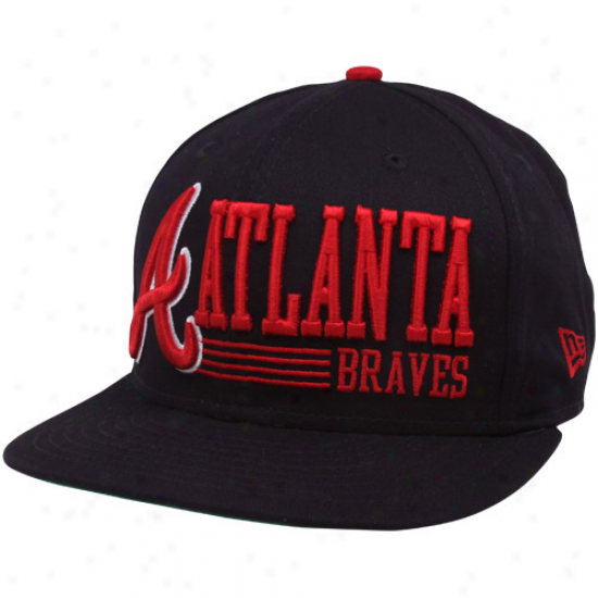 Just discovered Era Atlanta Braves Navy Blue Retro Turn the thoughts 9fifty Snapback Adjustable Hat