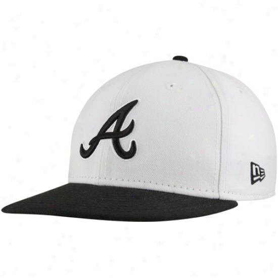 New Era Atlanta Braves White-black Two-tone Fashion 59fifty Fitted Hat