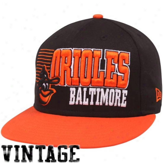 New Era Baltimore Orioles Black-orange 9fifty Borderline Snapback Adjustable Hat