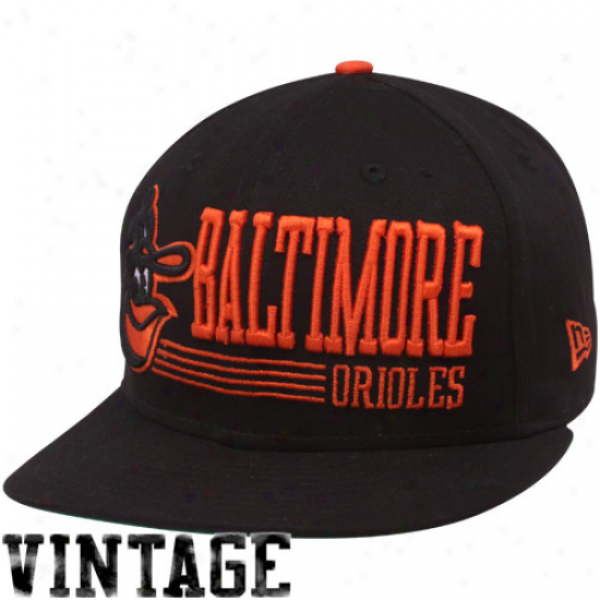 Recent Era Baltimore Orioles Black Retro Look Vintate 9fifyy Snapback Adjustable Hat
