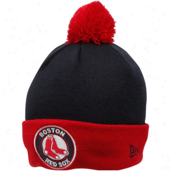 New Eraa Boston Red Sox Navy Blue-red Circle Join Beanie