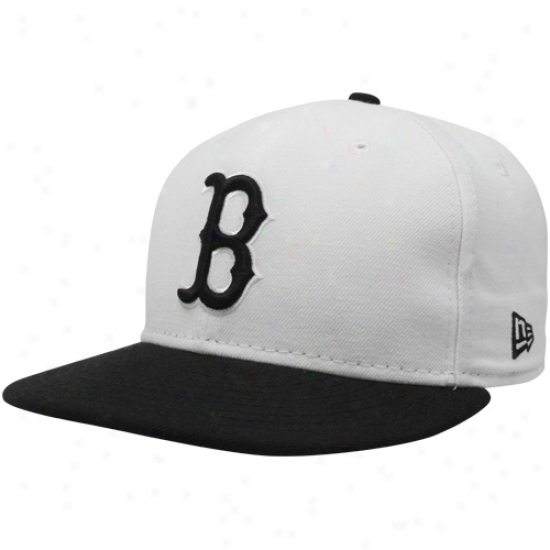 New Era Boston Red Sox White-black 59fifty Two-tone Fashion Fitted Hat
