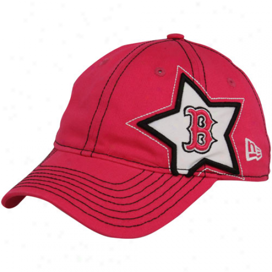 New Era Boston Red Sox Juvenility Girls Pink Sidestar Adjustable Hat