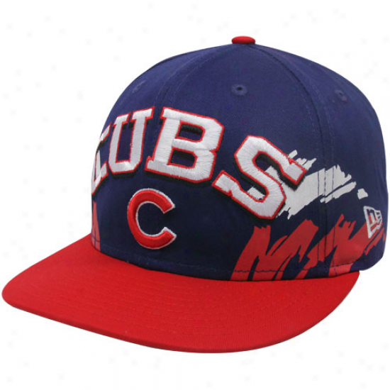New Era Chicago Cubs Royal Blue-red Side Snapback 9fifty Adjustable Hat