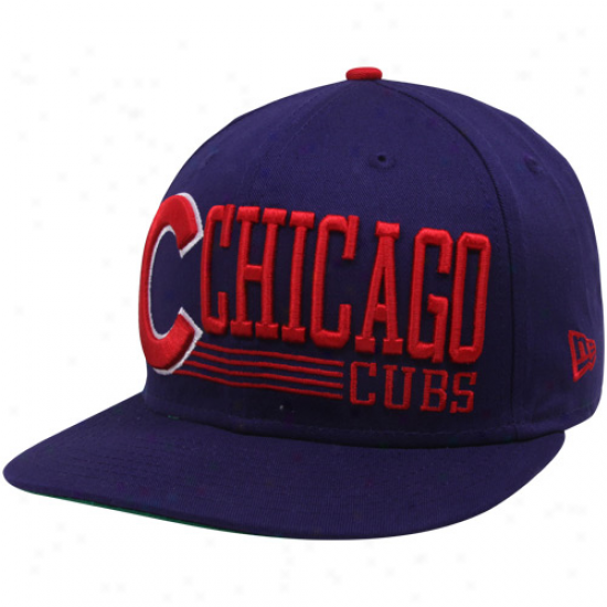 New Era Chicago Cubs Royal Blue Retro Look 9fifty Snapback Adjustable Hat