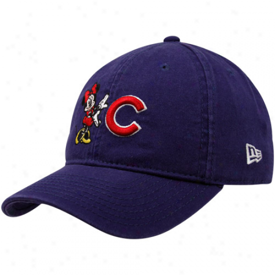 New Era Chicago Cubs Yotu Girls Royal Blue Minnie Jr. Essentials Adjustable Hat