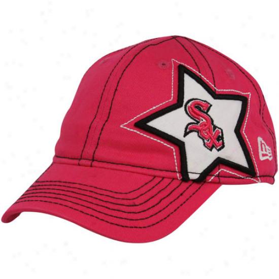 New Era Chicago White Sox Toddler Girls Pink Sidestar Adjustable Hat