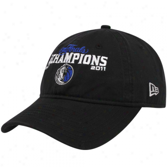 New Era Dallsa Mavericks 2011 Nha Champions Navy Blue Adjustable Slouch Hat