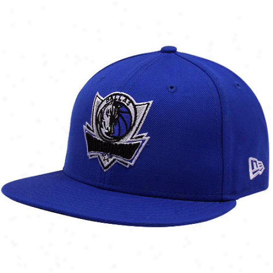 Unaccustomed Era Dallas Mavericks Royal Blue 59fifty Primary Logo Fitted Hat